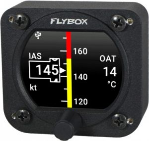 Flybox Omnia57 ASI-OAT, Air Speed Indicator + Outside Air Temp