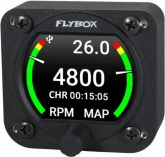 Flybox Omnia57 RPM-MAP, Engine Tachometer + Manifold Absolute Pressure