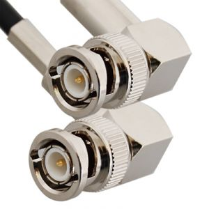 BNC 90° Maschio Dual Crimp for RG 58, 58A,58B, 58C
