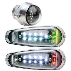 Whelen Microburst 2 Plus Kit, Set 3 luci: coppia di luci alari e lampada di coda a led, Mod. MB2G & MB1W