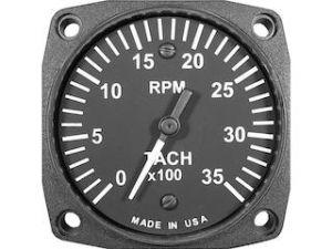 Contagiri RPM da 80d per motore Lycoming, No Archi, 0-3500 RPM, NO contaore, con sensore per presa di forza, certificato