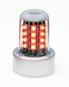 Whelen luce LED Beacon, 28V, rossa(5HoleAdapt, Flying Leads, Lower)